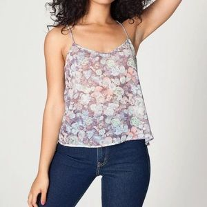 American Apparel Sheer Floral Cami Top Size XS